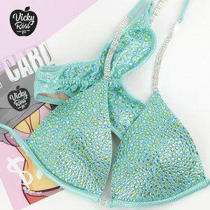 Mint Lime Full Scatter Bikini Fitness Bikini Suit